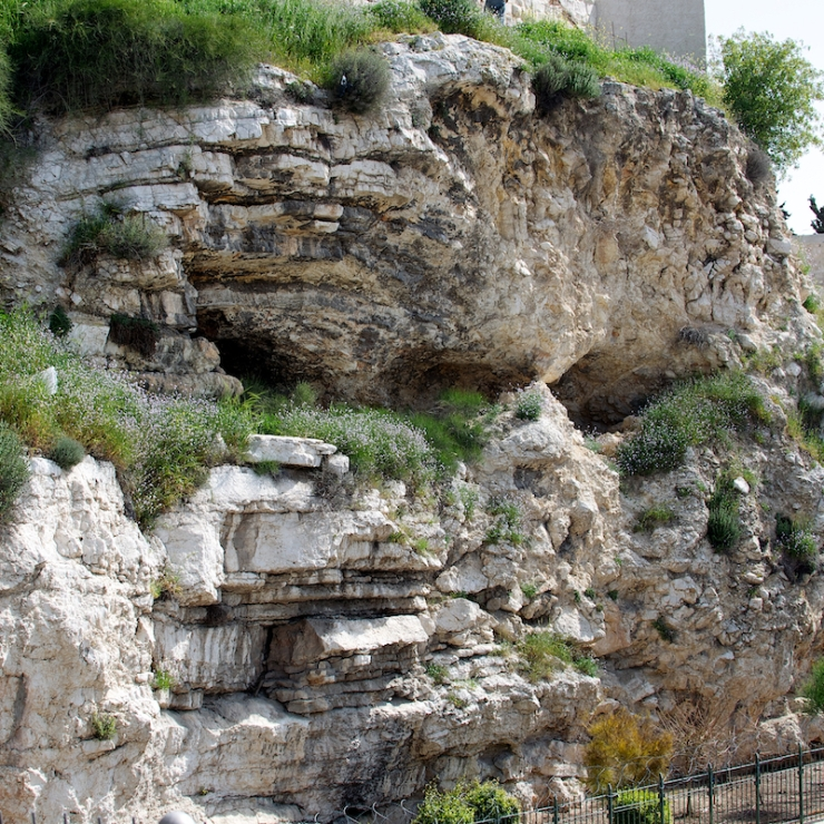 De rots waarin de vorm van een schedel kan worden gezien.  Foto: Alfred Muller
