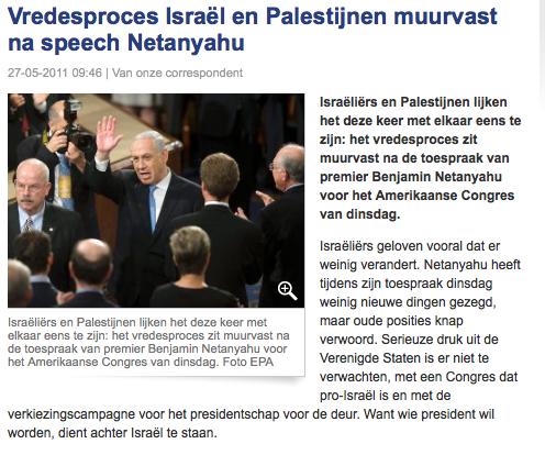 Website RD voor het hele artikel. http://www.refdag.nl/nieuws/buitenland/vredesproces_israel_en_palestijnen_muurvast_na_speech_netanyahu_1_566304