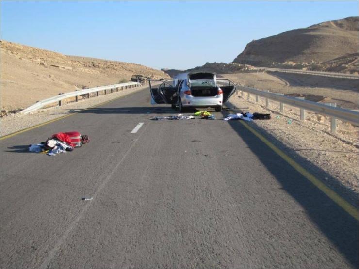Acht doden bij een terreuraanslag op Zuid-Israël op 18 augustus 2011. Foto: IDF-Flickr.