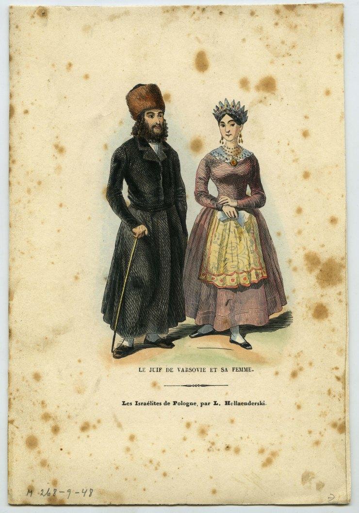 7 Een chassied in Warschau en zijn vrouw. Artiest: Léon Hollaenderski.
