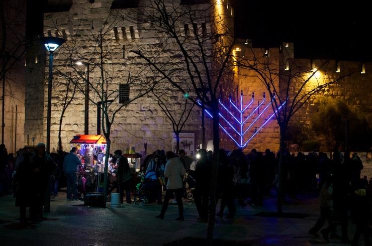 Hanukkah Jaffa Gate