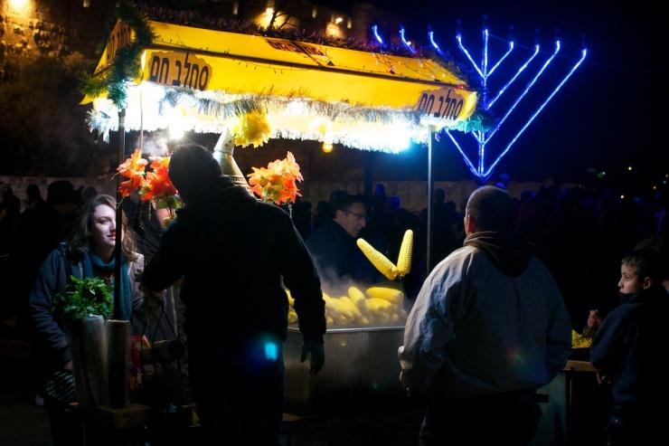Hanukkah candle Jaffa Gate