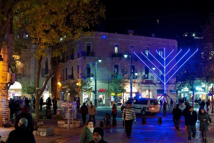 Hanukkah Zion Square Jerusalem