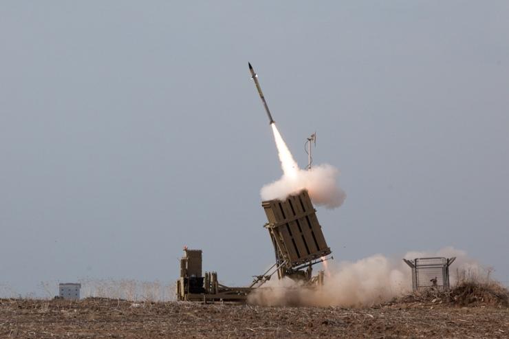 Het Iron Dome afweersysteem in actie. Foto: IDF