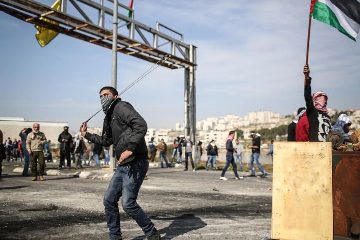 Rellen bij de stad Betunia op de Westoever in februari. Foto: Noam Moskovich, The Israel Project