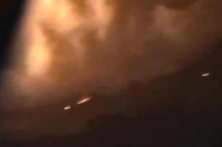 Aanval bij Damascus. Beeld: YouTube.