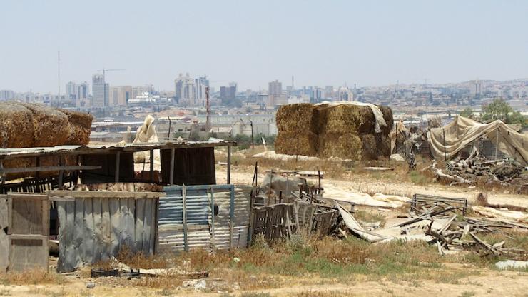 In een niet-erkend dorp ten zuiden van Beersjeva. Foto: Alfred Muller