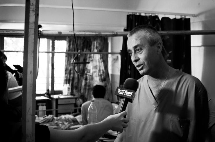 Dr Shokrey Kassis in het Zivziekenhuis. Foto: © Alfred Muller