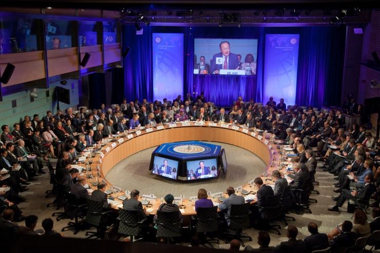 Bijeenkomst van het ontwikkelingscomité van de Wereldbank 2013. Foto  Eugene Salazar / World Bank