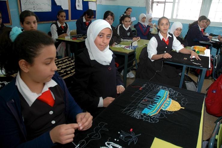 Op een school in Oost-Jeruzalem. Foto: © Alfred Muller
