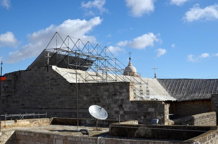 De Geboortekerk in Bethehem ondergaat een renovatie. Foto: © Alfred Muller