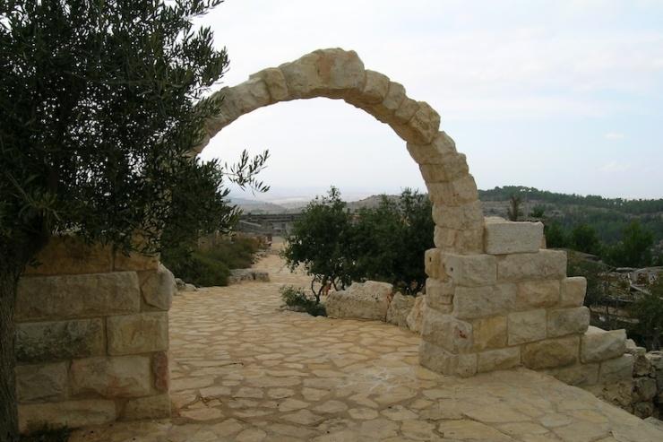 De Bijbelse tuin in Yad Hashmona. Foto: © Alfred Muller
