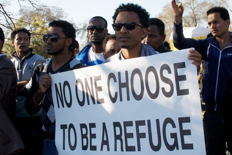 'Niemand kiest ervoor vluchteling te zijn.' Foto: © Alfred Muller.