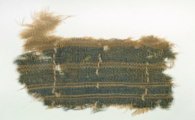 ERUZALEM.De kleur techelet wordt genoemd in Numeri 15:38b. Bijbel- vertalers vertaalden dit onder meer met hemelsblauw.  Foto: Israëlische Oudheidkundige Dienst, Clara Amit
