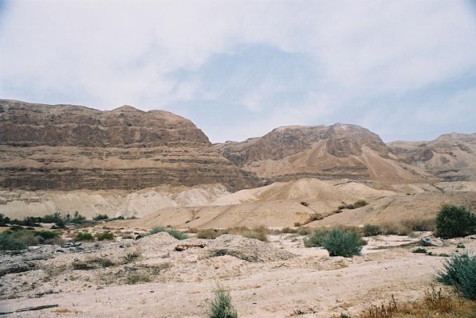 Het landschap rond de Dode Zee in het gebied waar de Kidron uitmondt. Foto: © Alfred Muller