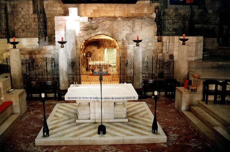 De grot in de Basiliek van de Annunciatie. Foto: © Alfred Muller