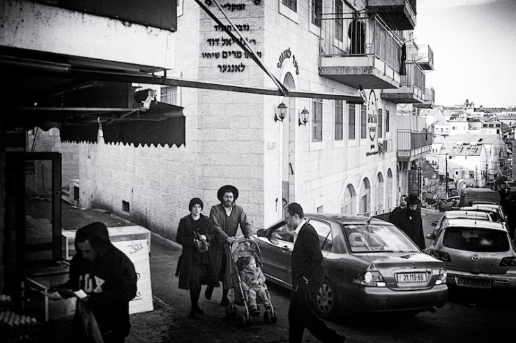 In de ultra-orthodoxe wijk Mea Shearim in Jeruzalem. Foto: © Alfred Muller