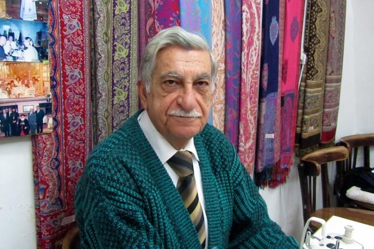 Sami Barsoum, de muktar van de Syrisch-orthodoxe gemeenschap in Jeruzalem. Foto: © Alfred Muller