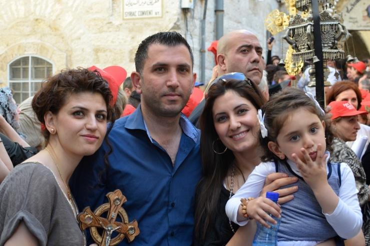 De familie Chamoun, speciaal uit Nederland overgekomen. Foto: © Alfred Muller