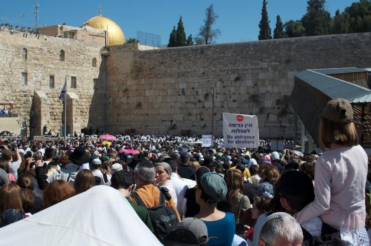Joden hebben wel gebedsrechten bij de Westelijke Muur, maar niet op de hoger gelegen Tempelberg. Foto: © Alfred Muller