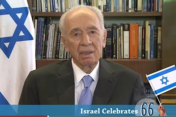 President Shimon Peres. Foto: YouTube.
