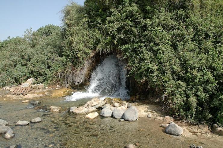 Een van de bronnen bij Tabgha.
