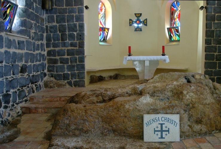 Mensa Christi: de plaats waar Jezus met de discipelen at.
