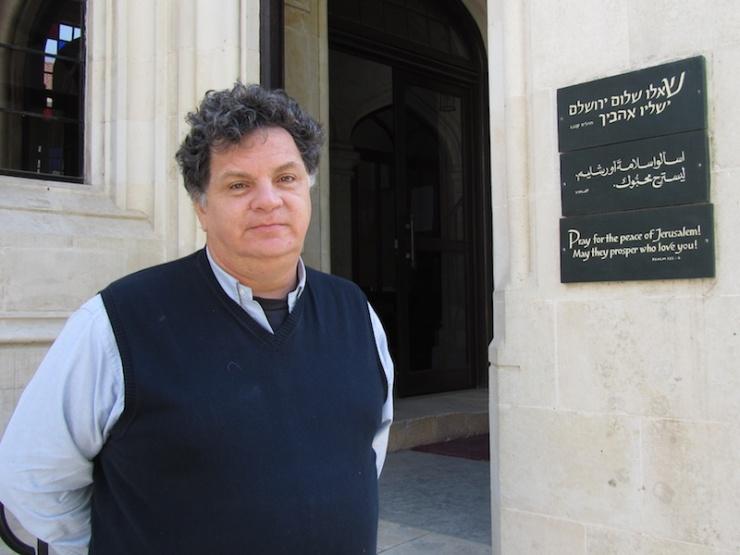 Ds. David Pileggi, voorganger van Christ Church in Jeruzalem. Foto: © Alfred Muller