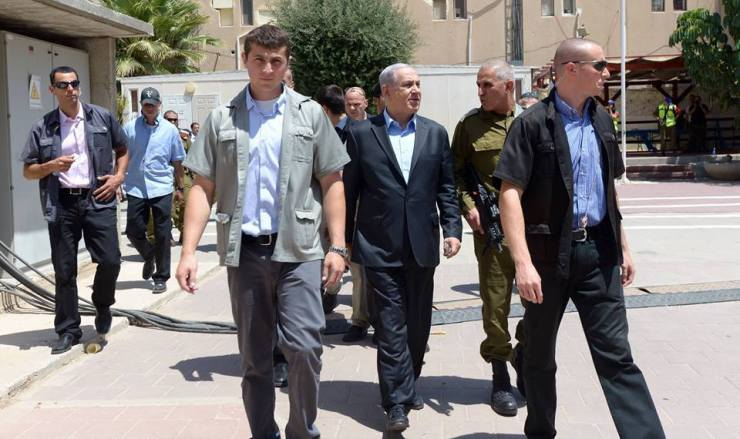 Premier Benjamin Netanyahu na het houden van consultaties met het zuidelijk commando in Beersjeva. Foto: GPO-PMO/facebook.
