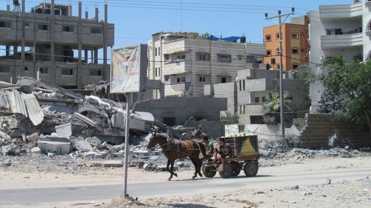 Burgers in de Gazastrook. Foto:  OCHA