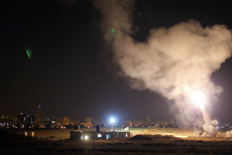 De Iron Dome in actie. Foto; IDF.