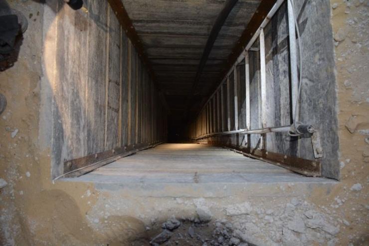Eerst afdalen naar beneden voordat de tunnel wordt bereikt. Foto: IDF.