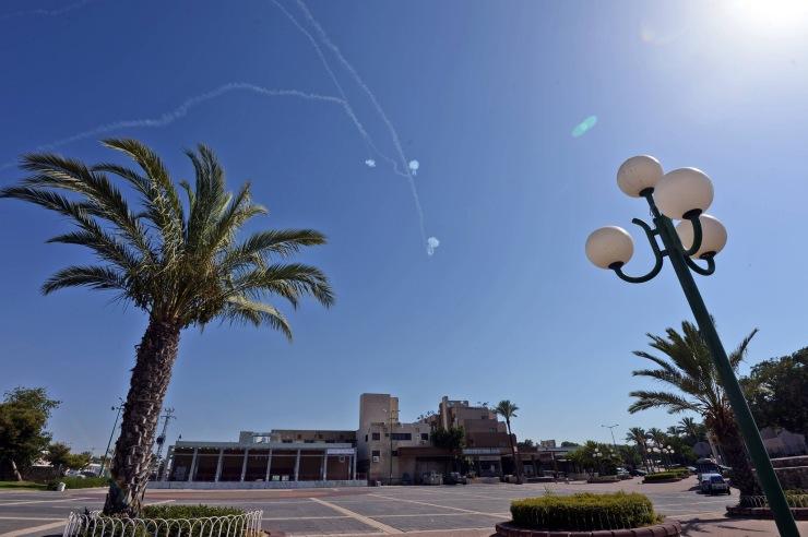 De Iron Dome in actie bij Ashkelon. Foto: Haim Zach : GPO