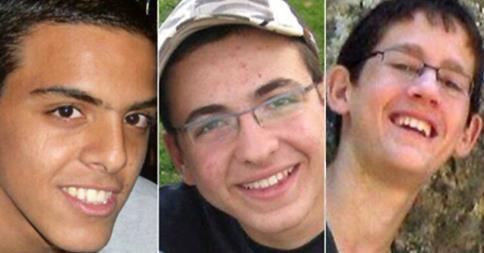 Eyal Yifrah, Gilad Sha'er and Naftali Frankel (Foto: Min. v. Buitenlandse Zaken, Israël)