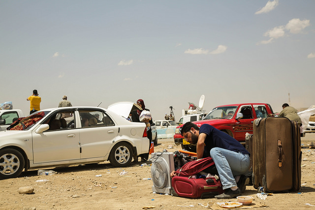 Vluchtelingen in Mosul trekken naar Erbil. Foto: UNHCR/ACNUR Américas op Flickr.