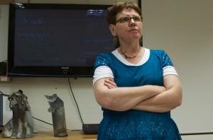 Sociaal werkster Debbie Massel... veerkrachtig blijven...  Foto: Alfred Muller