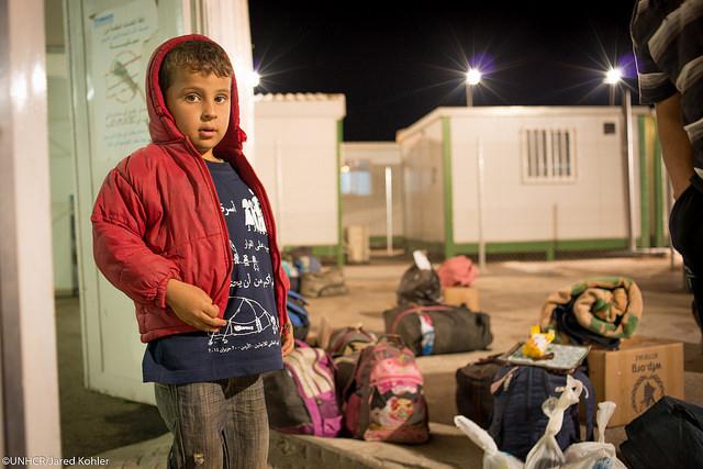 Syrische vluchtelingen in het Rabaa al Sarhan registratie centrum in Jordanië. Foto: UNHCR / J.Kohler.