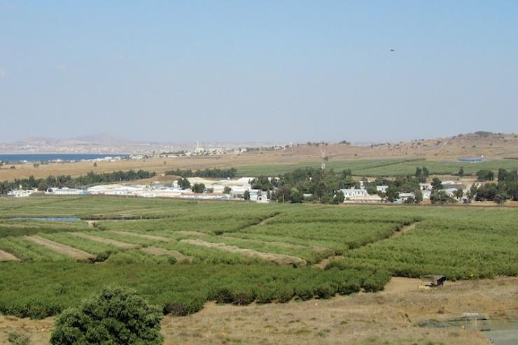 Het Undof kamp Ziouani tegenover Quneitra. Foto: © Alfred Muller