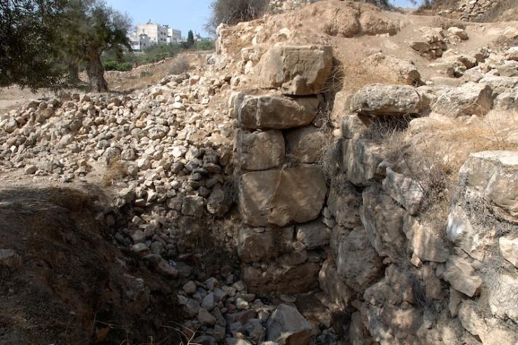 De muur die de verspieders mogelijk hebben gezien.