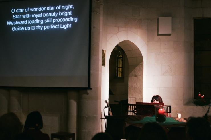Liz Kopp in Christ Church.