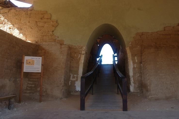 De Kanaänitische poort bood toegang tot de stad.Foto: @ Alfred Muller