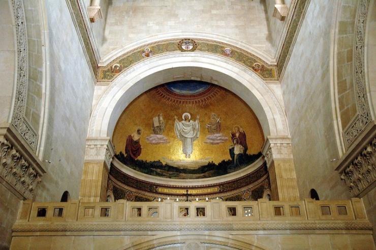 In de franciscaanse kerk.