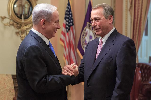Voorzitter John Boehmer ontmoet premier Benjamin Netanyahu. Foto: http://www.flickr.com/photos/speakerboehner/16520778118 voorzitter John Boehner.