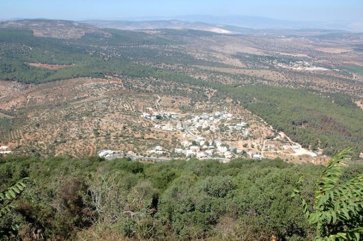 Het uitzicht vanaf de Tabor.
