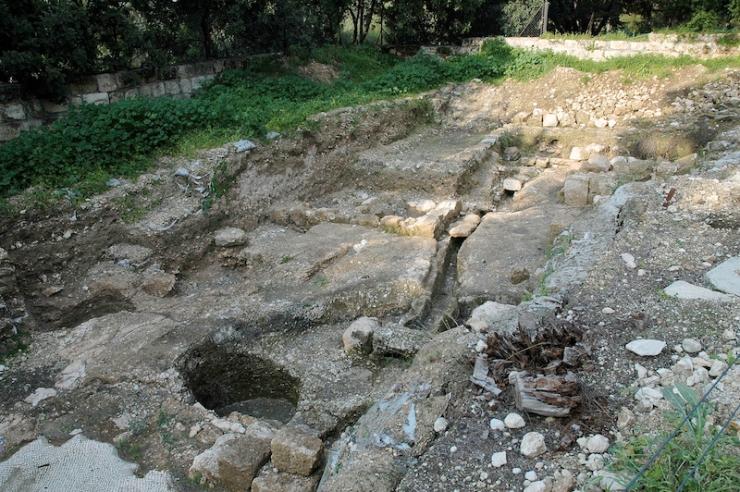 Een Romeinse villa kreeg water aangevoerd uit een bron.