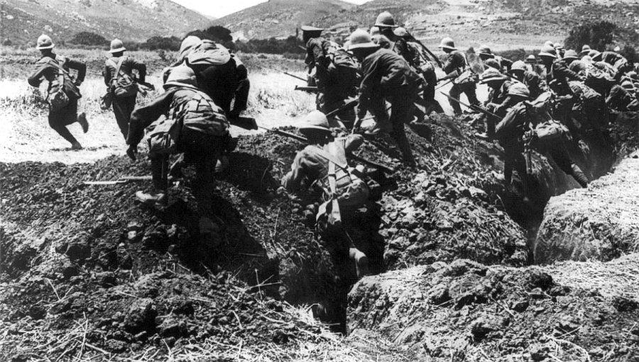 De slag om Gallipoli. Foto; Wiki Commons.