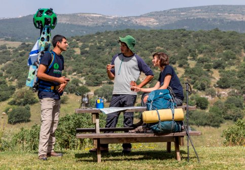 Israel National Trail on Google trekker Photo by Menahem Reiss