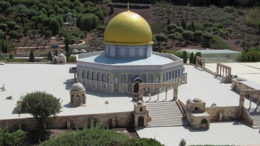 Temple Mount with Dome of the Rock in Mini Israel