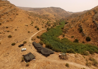NEG II in wadi Ein-Gev in de Jordaan Vallei Foto Austin Hull, Leore Grosman.