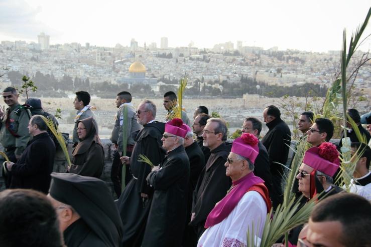 Palmesøndag 20.3.2016, Den latinske patriarken av Jerusalem, Fouad Twal (Foto Vidar Norberg) d